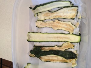 Rehydrated Zucchini Slices