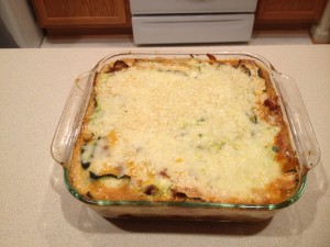 Fully baked lasagne