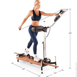 Woman using a Nordic Trac Exercise Machine