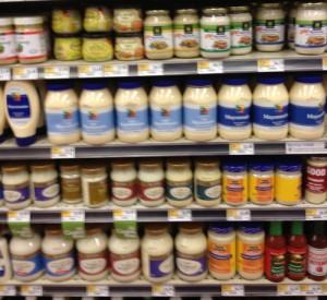 Shelf Full of Mayonnaise