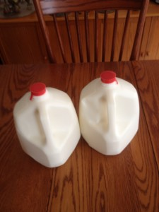 2 gallons of milk