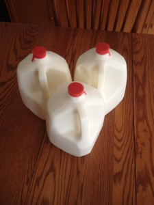 3 gallons of raw milk