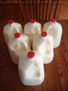 6 gallons of raw milk